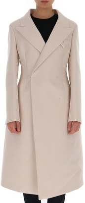Bottega Veneta Fitted-Waist Single Breasted Coat
