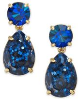 Kate Spade Gold-Tone Glitter Stone Drop Earrings