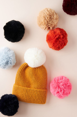Anthropologie Pick-A-Pom Faux Fur Topper By in Black