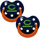Baby Fanatic Chicago Bears Glow in Dark 2-Pack Baby Pacifier Set - NFL Infant Pacifiers