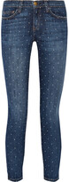 Thumbnail for your product : Current/Elliott The Stiletto Printed Low-rise Skinny Jeans