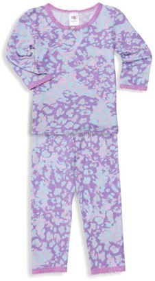 Esme LIttle Girl's & Girl's Cheetah Two-Piece Pajama Set