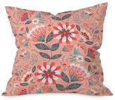 DENY Designs Folk Floral Throw Pillow