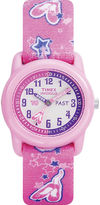 Timex Easy Reader Kids Pink Fabric Strap Watch T7B1519J