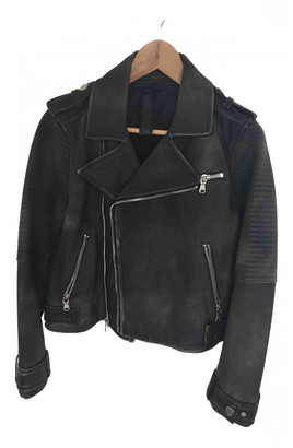 Marc by Marc Jacobs Black Leather Leather jackets
