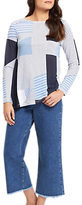 Jaeger Asymmetric Stripe Top, Blue