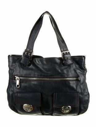 Marc Jacobs Leather Shoulder Bag Blue