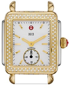 Michele Deco Mid 16 Diamond Two Tone Watch Head, 29 x 31mm