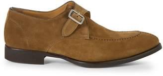 Di Bianco Spqr Suede Moc Toe Buckle Dress Shoes