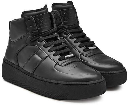 Maison Margiela Leather High-Top Platform Sneakers