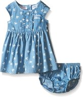 Calvin Klein Baby Girls' Butterfly Print Chambray Dress and Panty