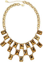JCPenney MONET JEWELRY Monet Light Brown Crystal Gold-Tone Statement Necklace