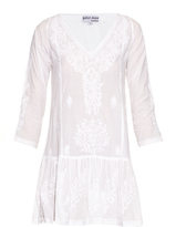 Juliet Dunn Hand-embroidered cotton kaftan