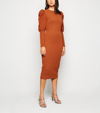New Look Innocence Puff Sleeve Midi Dress