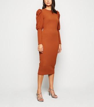 New Look Innocence Puff Sleeve Midi Dress