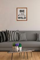 PTM Images Be Wild Framed Silkscreen Glass Wall Art