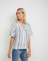 Jaeger Linen Stripe Top