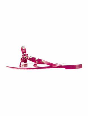 Valentino Studded Accents Flip Flops Purple