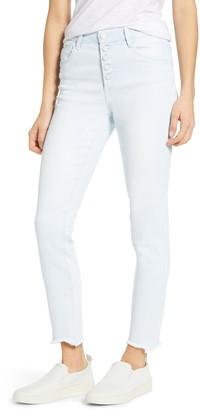 Wit & Wisdom High Waist Chewed Hem Skinny Jeans