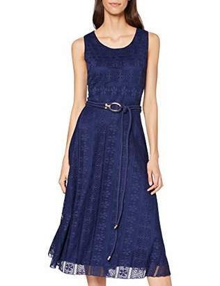 Yumi Women's Lace Midi Dress with Rope Detail Casual