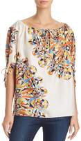 Tory Burch Alyssa Boatneck Printed Top