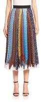 Mary Katrantzou Uni Pleated Tie-Print Skirt