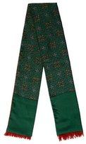 Hermes Printed Cashmere and Silk Muffler
