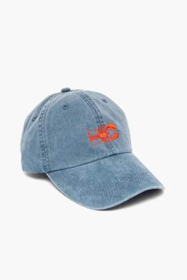 Gents Belted Cow Midnight Embroidered Lobster Hat