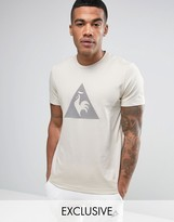 Le Coq Sportif Beige T-Shirt With Large Logo in Beige 1711090