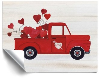 ArtWall Rustic Valentine Truck, Removable Wall Art Mural by Kathleen Parr Mckenna