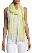 Eileen Fisher Hand-Dyed Modal/Silk Ombre Scarf, Lemon Ice
