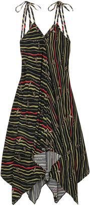 Loewe + Paula's Ibiza Asymmetric Printed Crepe Dress