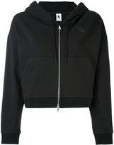 Nike cropped zip hoodie - women - Cotton/Polyester/Spandex/Elastane/Viscose - M