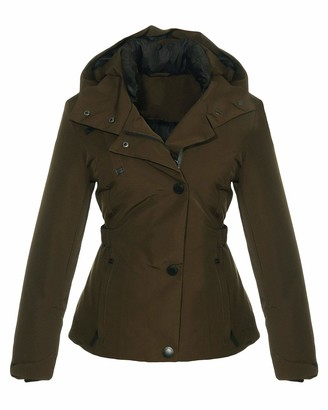 Malito More Than Fashion Malito Women Hooded Winterjacket Quilted Jacket JF1846 (Dark Olive XL)