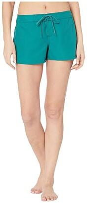 O'Neill 3 Saltwater Solids Boardshorts (Teal) Women's Swimwear