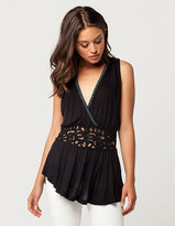 Free People Megan Lace Insert Womens Top