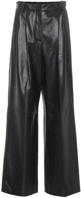 Joseph Tima high-rise wide-leg leather pants
