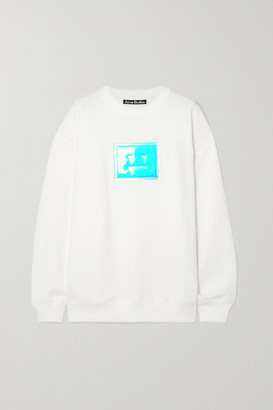 Acne Studios Oversized Appliqued Organic Cotton-jersey Sweatshirt - White