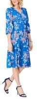 Vince Camuto Floral-Print Faux-Wrap Dress