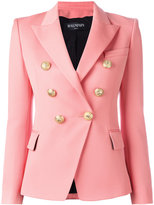 Balmain double breasted blazer - women - Wool/Viscose/Cotton - 40