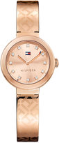 Tommy Hilfiger Women's Sophisticated Sport Rose Gold-Tone Stainless Steel Bangle Bracelet Watch 28mm 1781715