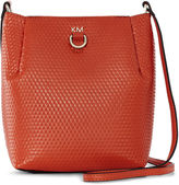 Karen Millen Small Embossed Duffle Bag - Orange