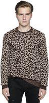 Just Cavalli Leopard Viscose & Cotton Knit Sweater