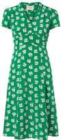 HVN - Morgan Floral-print Silk Crepe De Chine Midi Dress - Green