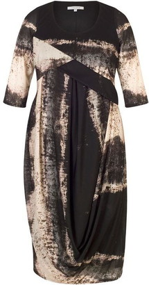 Chesca Abstract Ombre Drape Dress