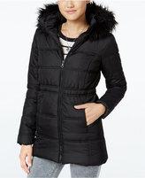 Krush Faux-Fur-Trim Hooded Puffer Coat