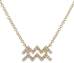 Adina's Jewels Adinas Jewels Pave Aquarius Pendant Necklace, 16-18