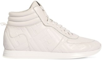 Fendi 20mm Leather High Top Sneakers