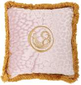 Roberto Cavalli Small Sigillo Velvet Accent Pillow
