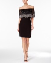 MSK Petite Embellished Off-The-Shoulder Dress